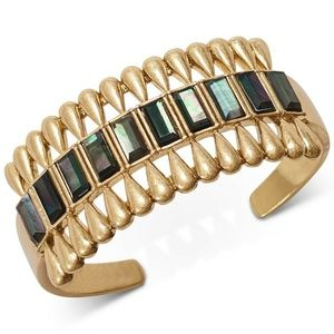 Lucky Brand Mother-of-Pearl Stone Cuff Bracelet